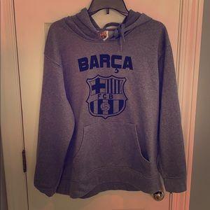 Like new Barcelona-long sleeve hoodie